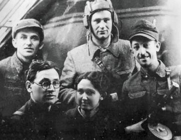 A Jewish partisan group of the brigade named after Valery Chkalov. Belorussia, 1943 1943 Belorussia Jewish resistance group.jpg