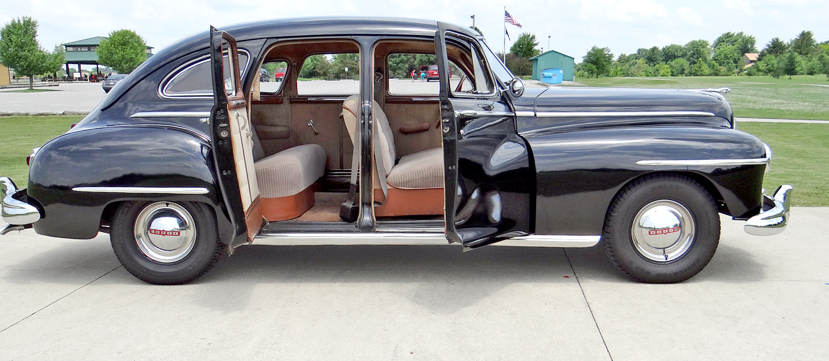 file 1946 dodge d24c 4 door sedan suicide doors