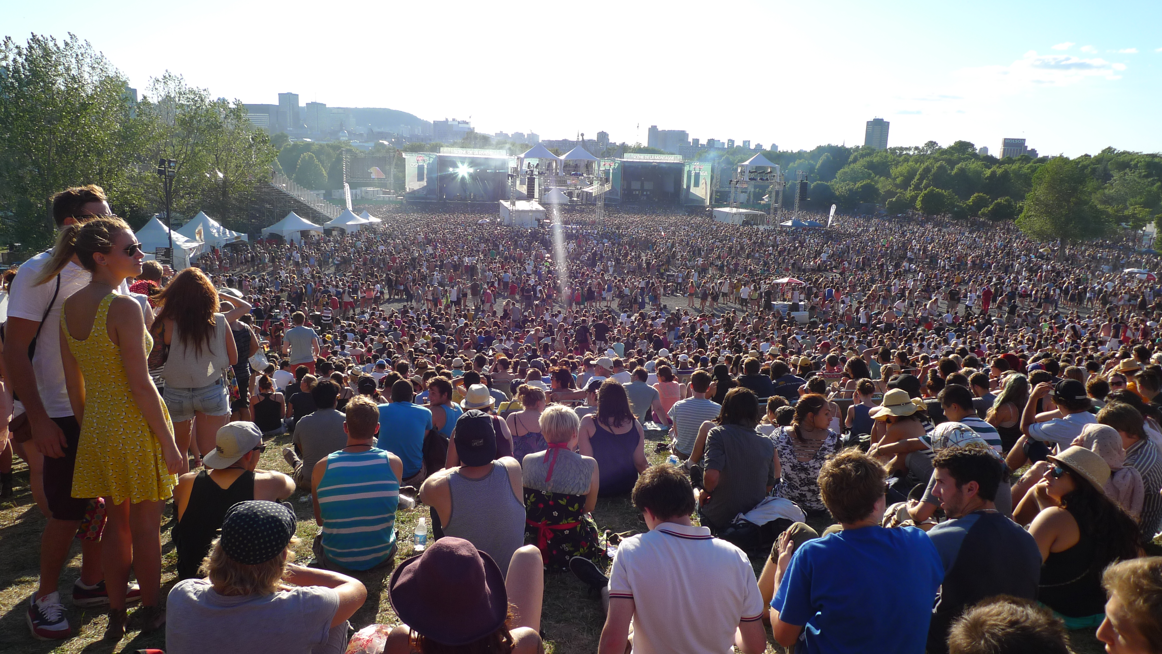 Osheaga music festival crowd