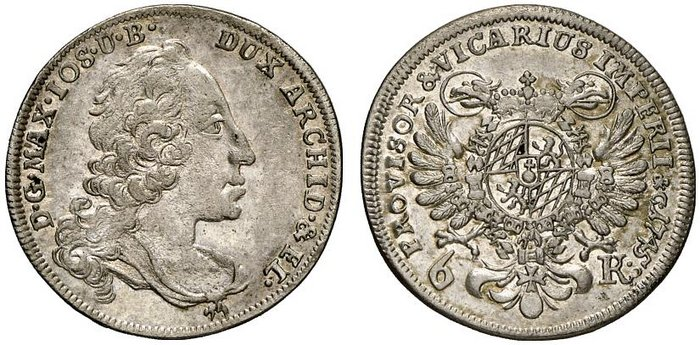 6 Kreuzer 1745, Bayern, mcsearch