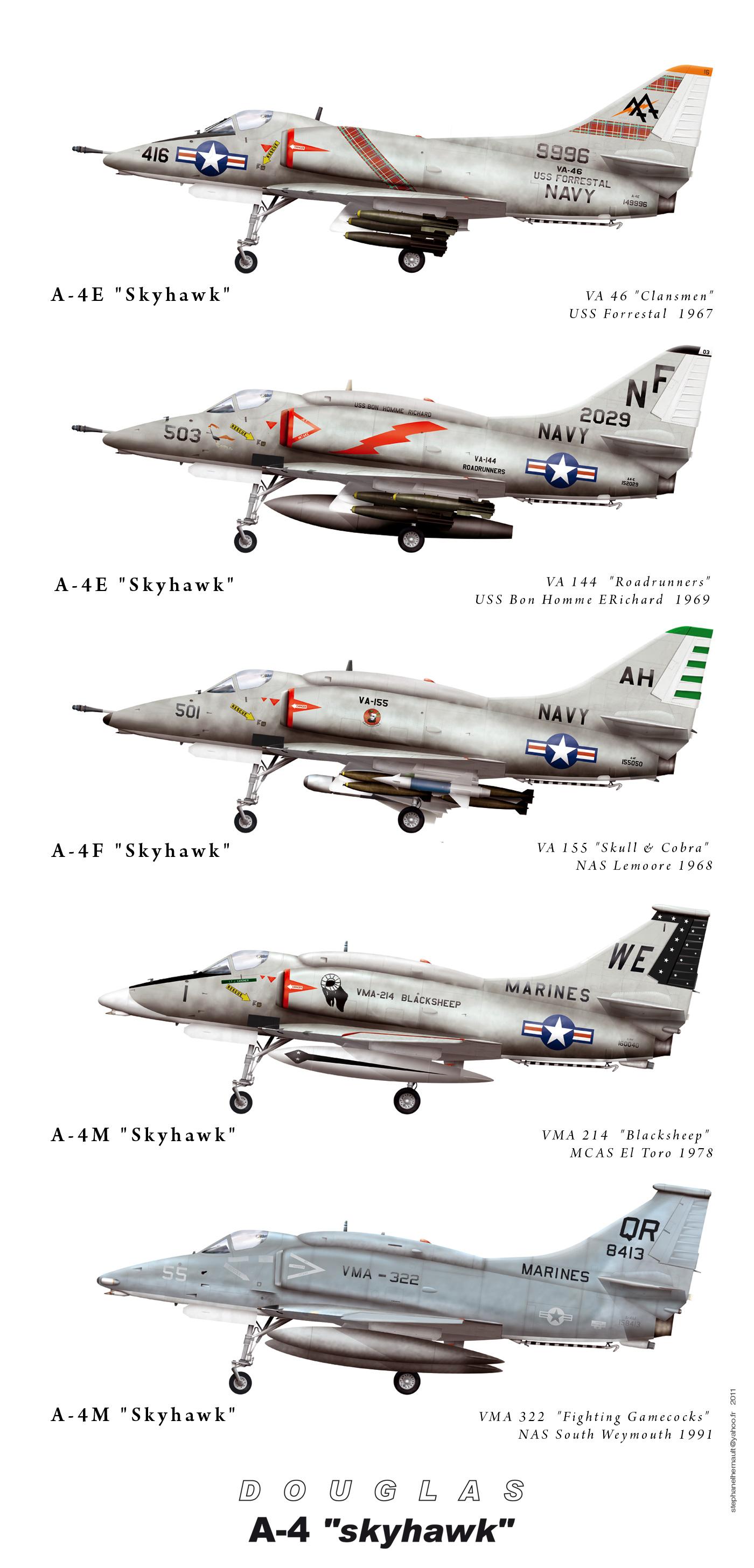 Fly Model 001 - A-4E Skyhawk (papercraft e información)