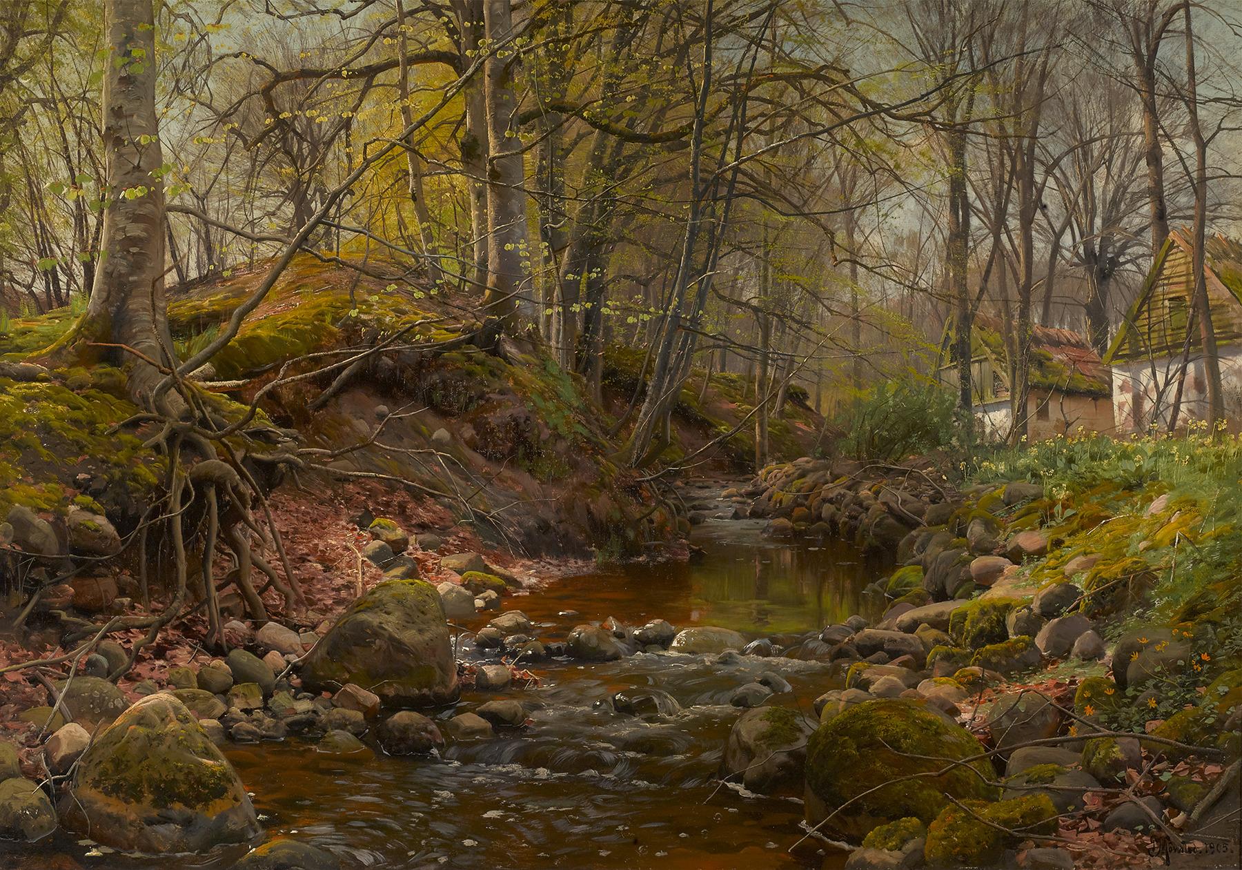 Peder Mork Monsted, A Forest Stream