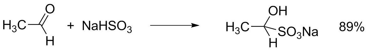 Получение бисульфитных производных