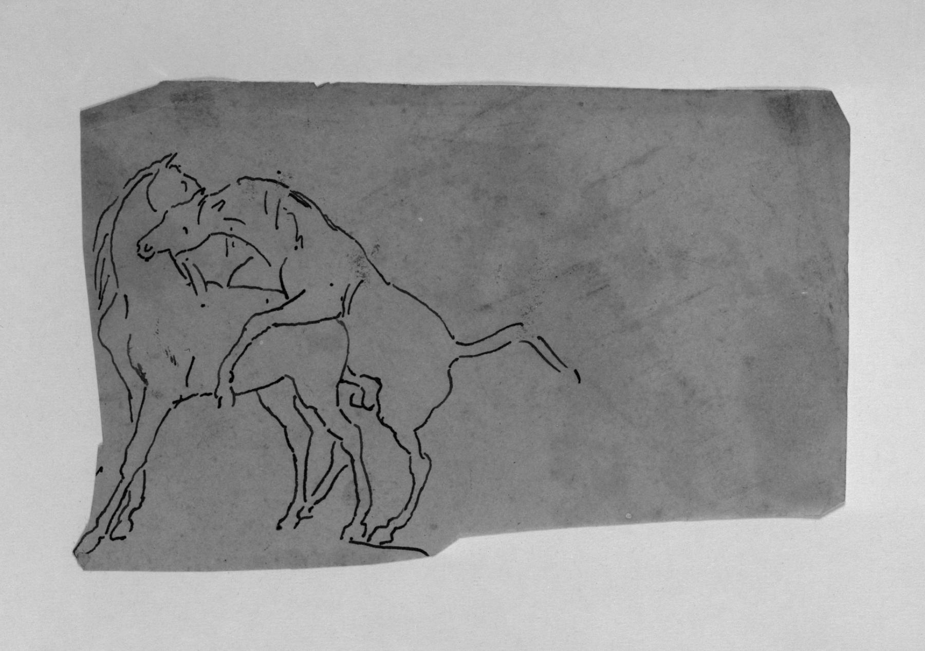 File:Antoine-Louis Barye - Tracing of a Sketch of Horses ...