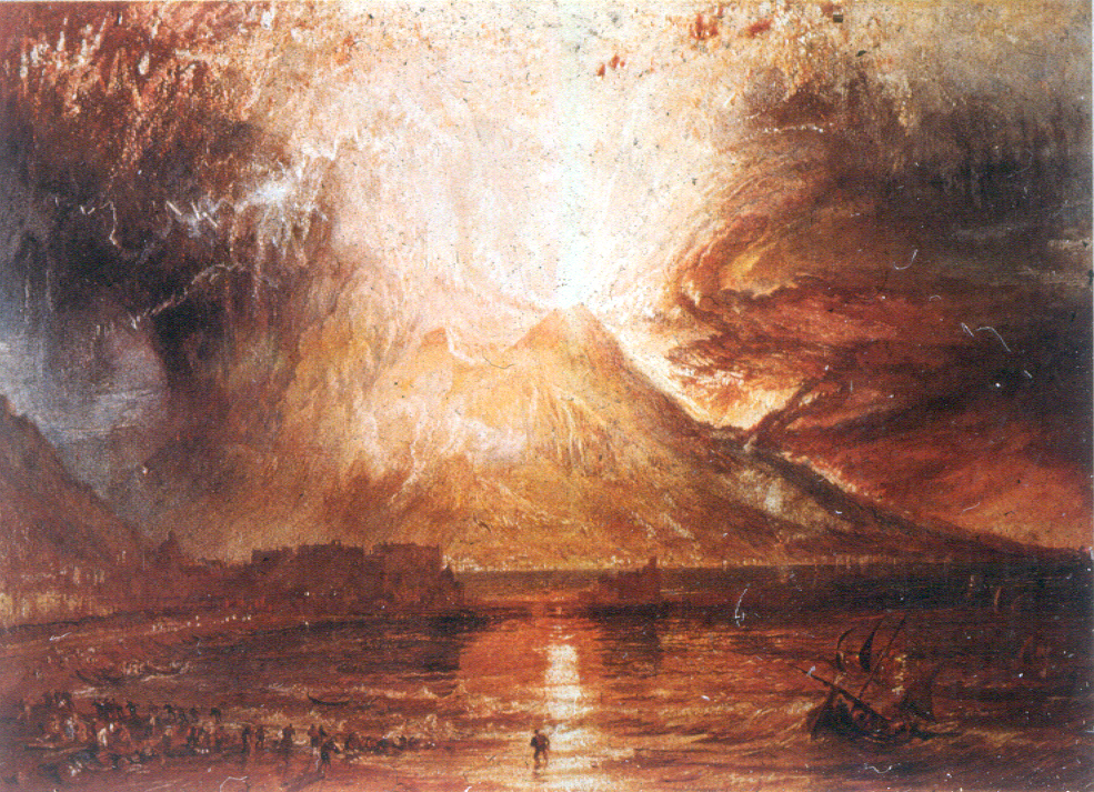 Eruption of Vesuvius, Watercolor, 1817