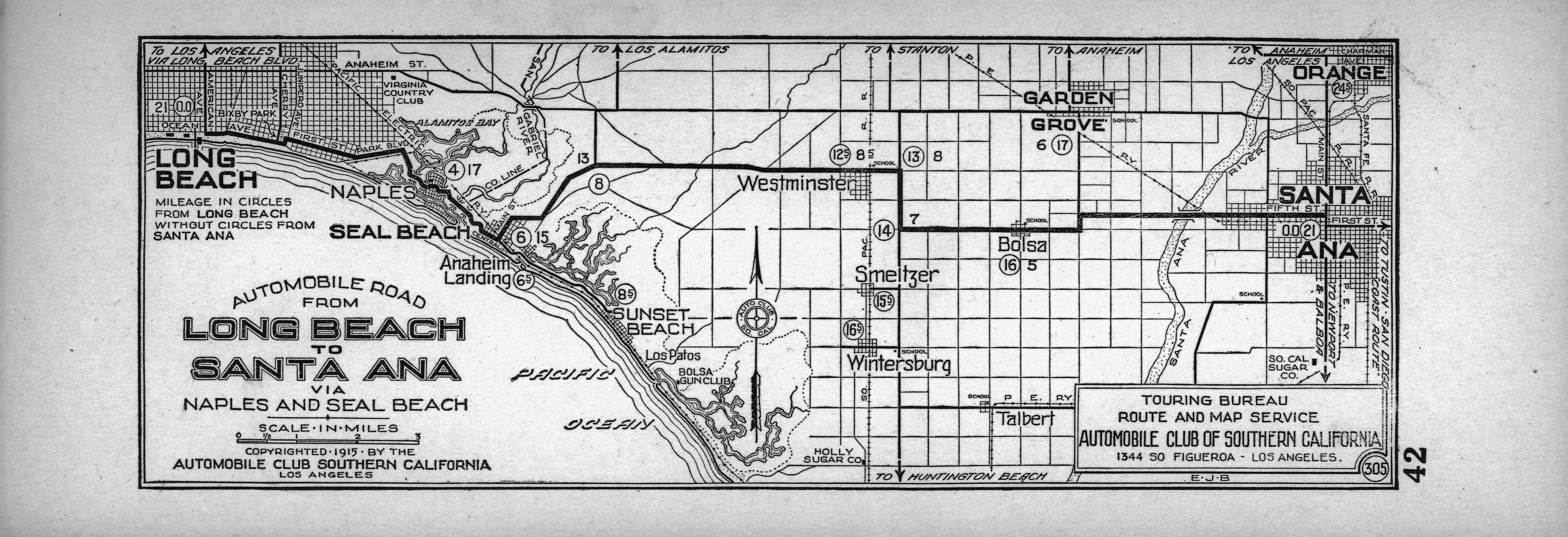 Superbe File:Automobile Road From Long Beach To Santa Ana Via Naples And Seal Beach,