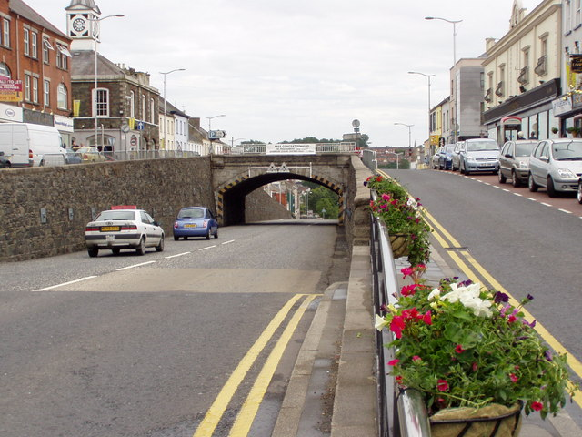 The Cut in Banbridge, County Down, Northern Ireland. Facing Ballymoney Hill in the centre of Banbridge.