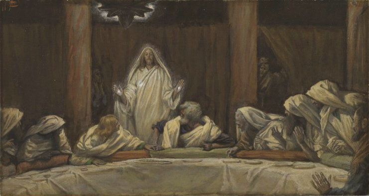 Brooklyn Museum - The Appearance of Christ at the Cenacle (Apparition du Christ au cénacle) - James Tissot