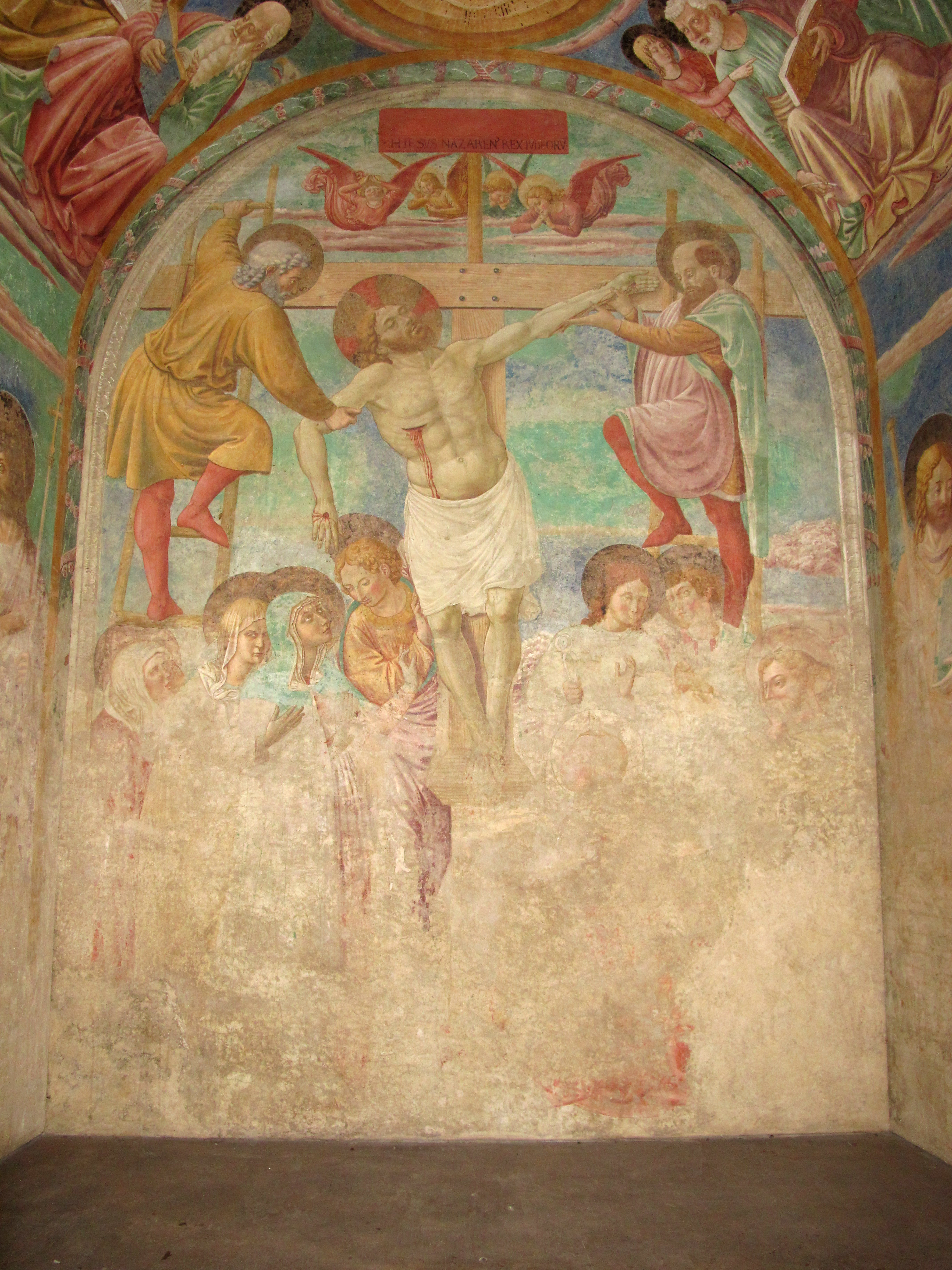 Certaldo alta, Certaldo, affreschi del tabernacolo dei giustiziati