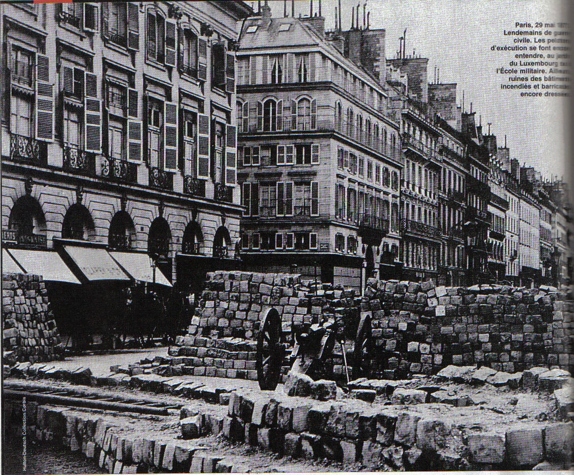 Paris Commune. Photo taken on May 29, 1871, af...