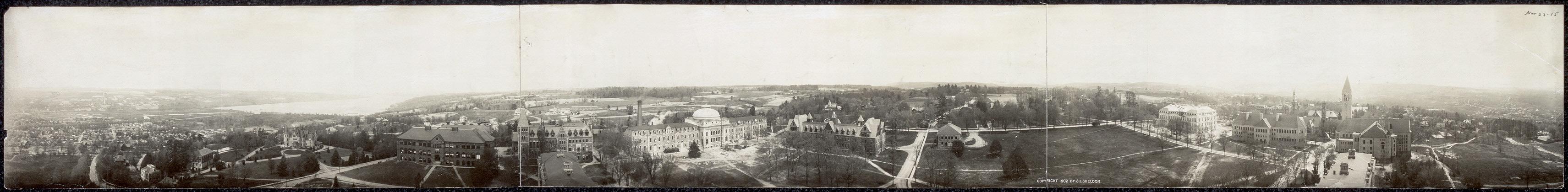 Панорама Главного кампуса университета, 1902 год.