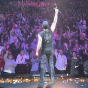 Criss Angel before live crowd