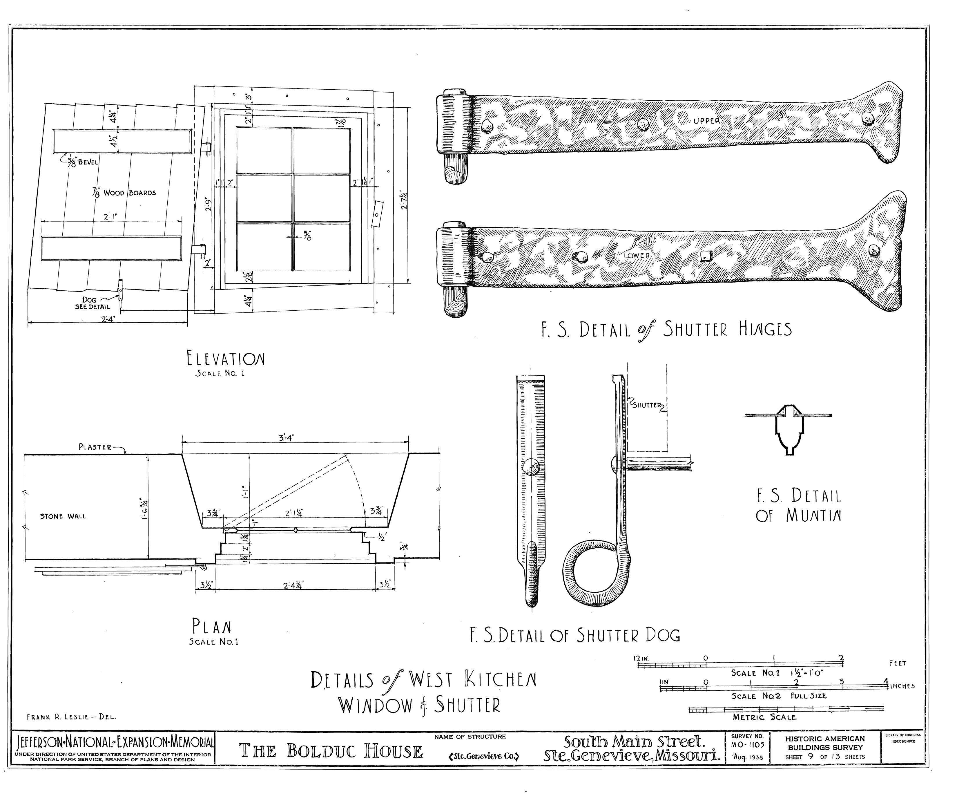 File Drawing Of Window And Shutter Details In The Bolduc