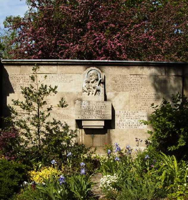 Aloisius Andritzkis grav i prestekrypten på den gamle katolske kirkegården i Dresden