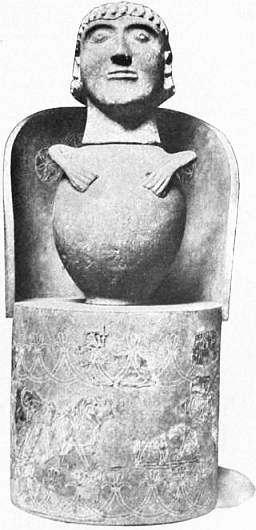 "EB1911 Ceramics Fig. 65.—ETRUSCAN ""CANOPIC"" JAR PLACED IN BRONZE CHAIR.jpg"
