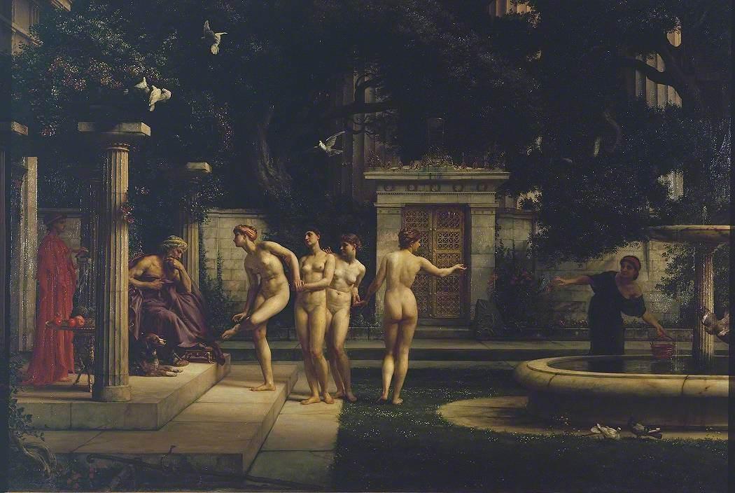 'A Visit to Aesculapius' by Edward John Poynter (1880) [Public Domain]