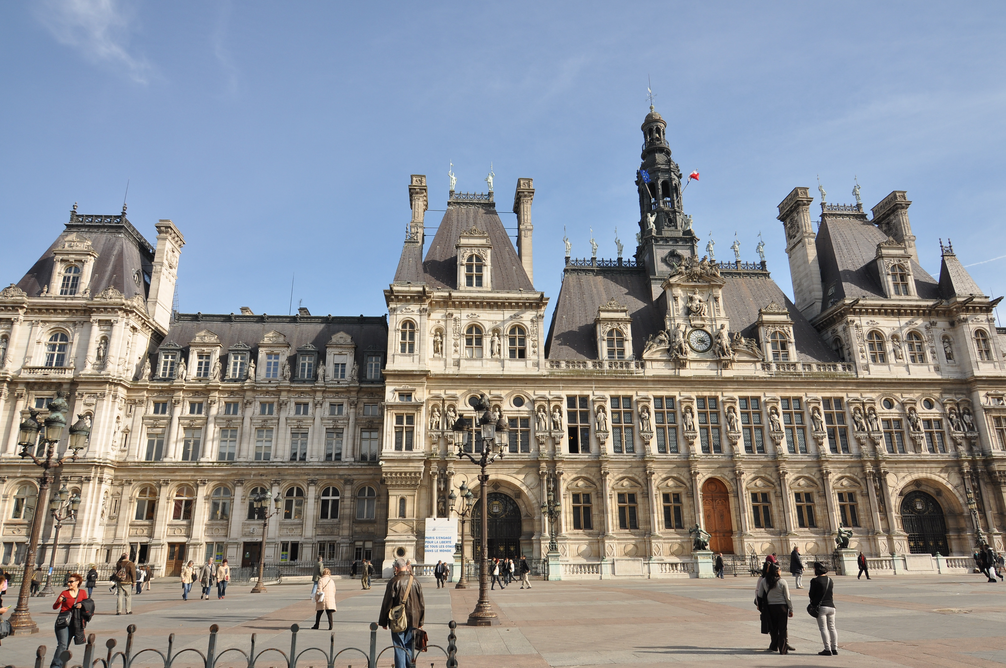 File exterior of the h tel de ville de paris 001 jpg for Hotel deville paris
