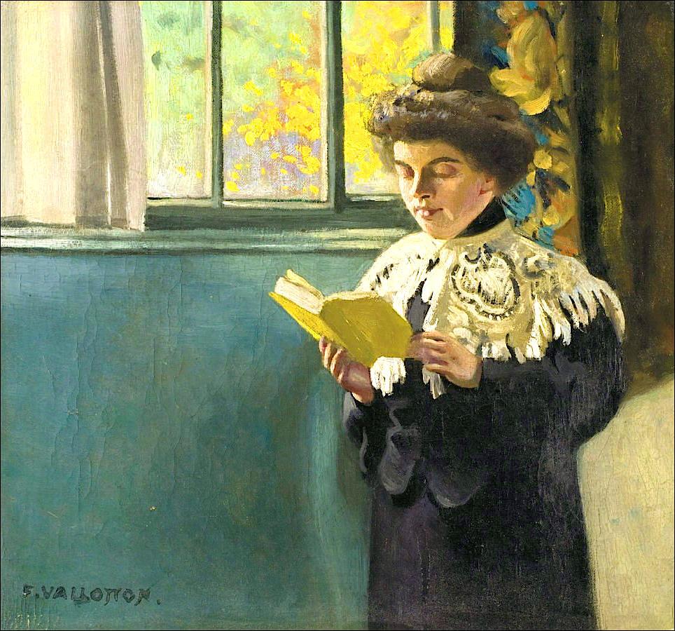 File f lix vallotton 1904c femme lisant la fen tre for Devant la fenetre