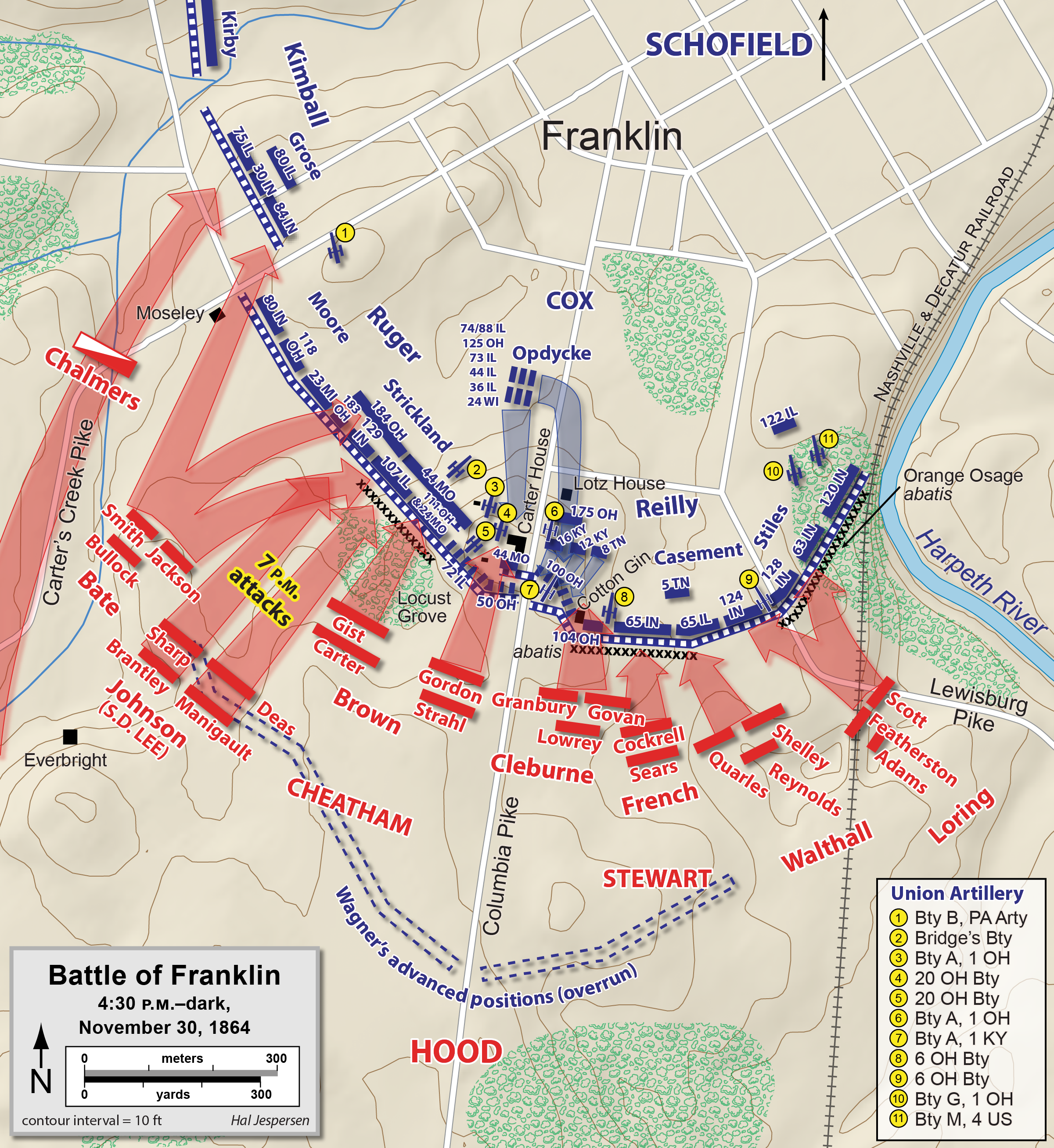 The Battle of Franklin, Tennessee November 30, 1864