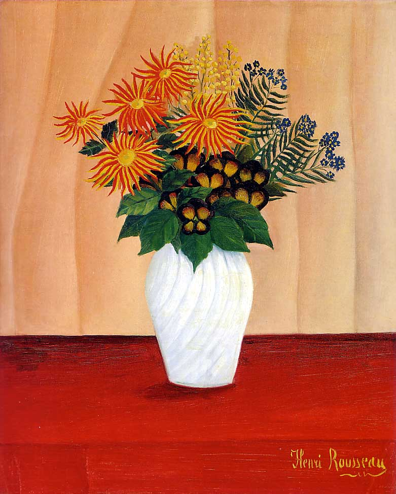 File henri rousseau bouquet of flowers tate gallery for Pictures of flowers bouquet