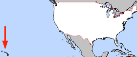 Mapa ning United States with Hawaii highlighted