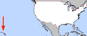 Havai eyaletinin ABD içindeki yeri