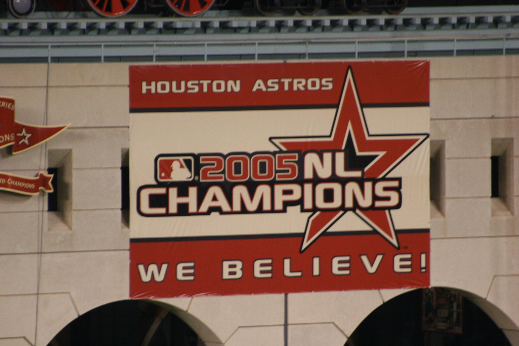 Image result for 2005 Houston Astros Championship Banner