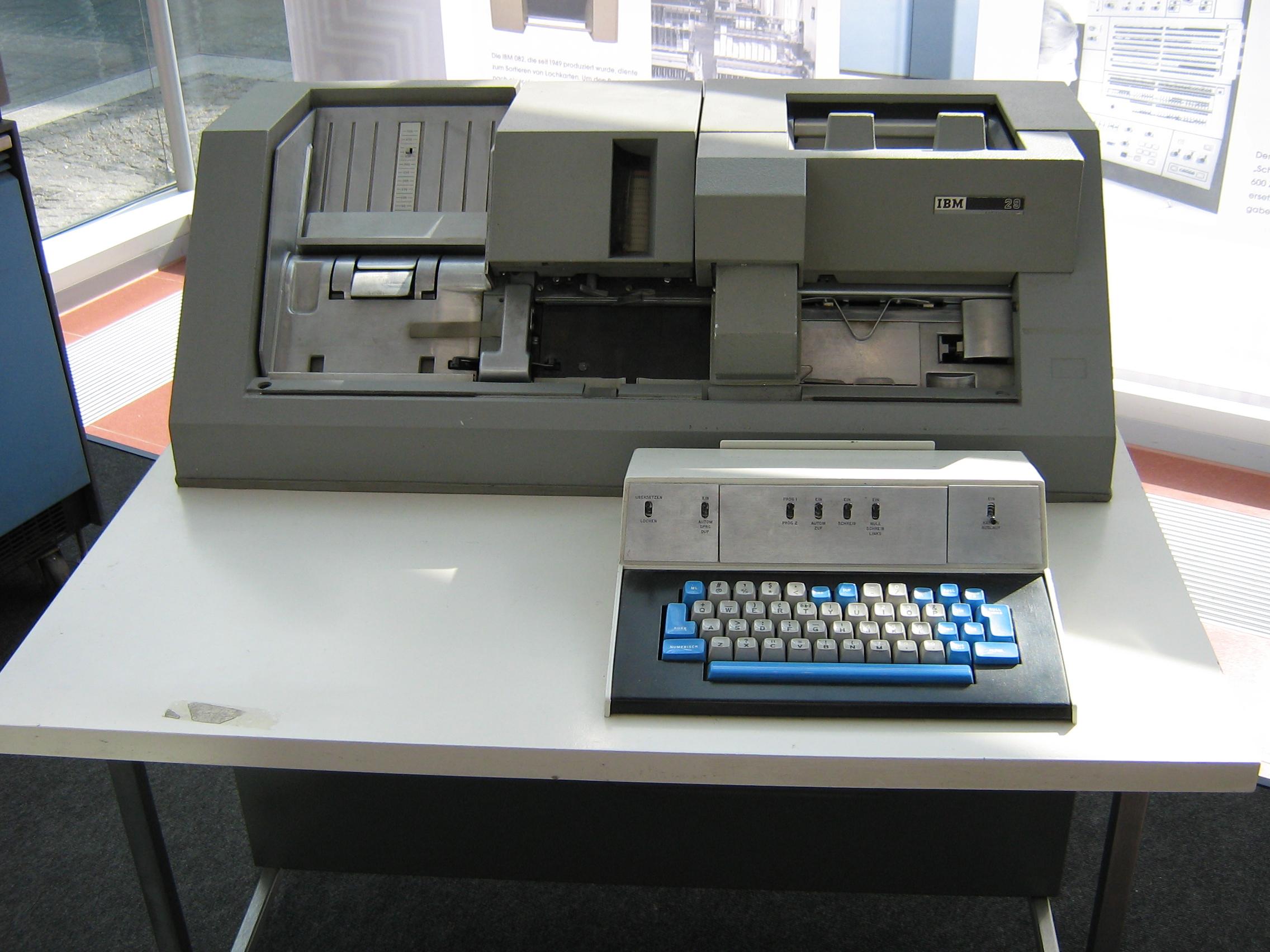 ibm keypunch machine