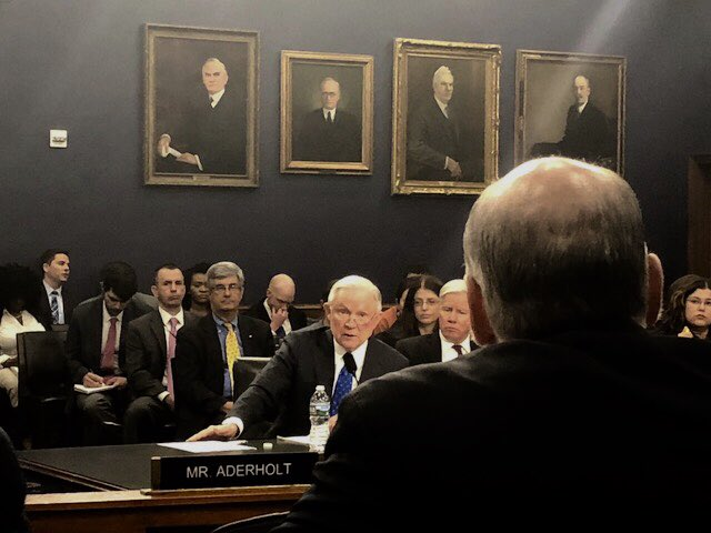Jefferson Sessions Testifying at Congress