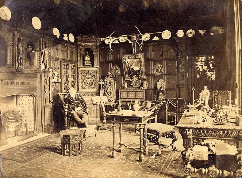 File:John Etherington Welch Rolls (1807-1870) in the 'Oak Parlour' at the Hendre..JPG