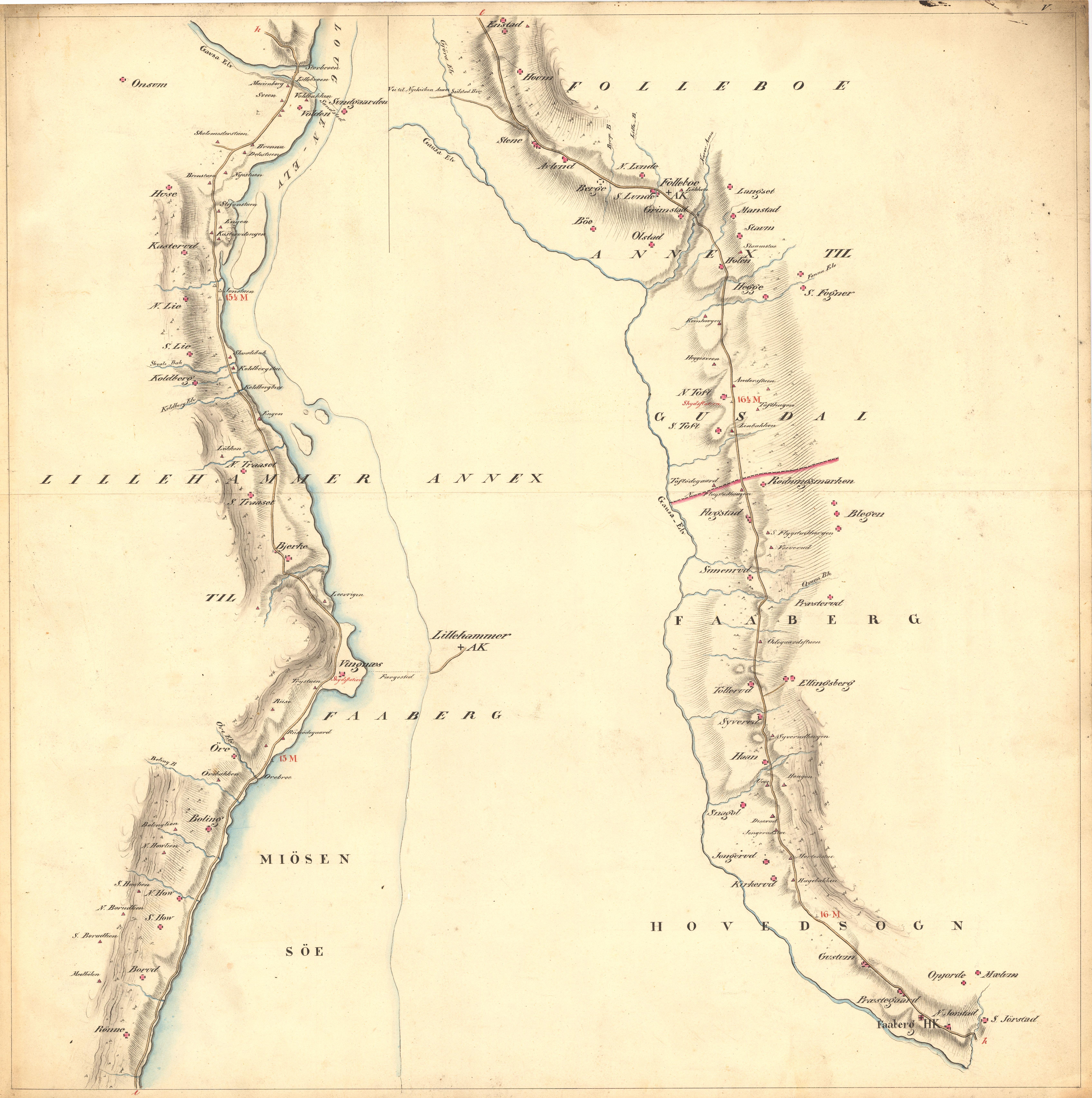 kart til og fra File:Kartblad 5  Kart over Veien fra Eidsvold igjennm Hurdalen  kart til og fra