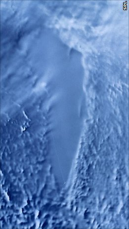 Lake Vostok Sat Photo color