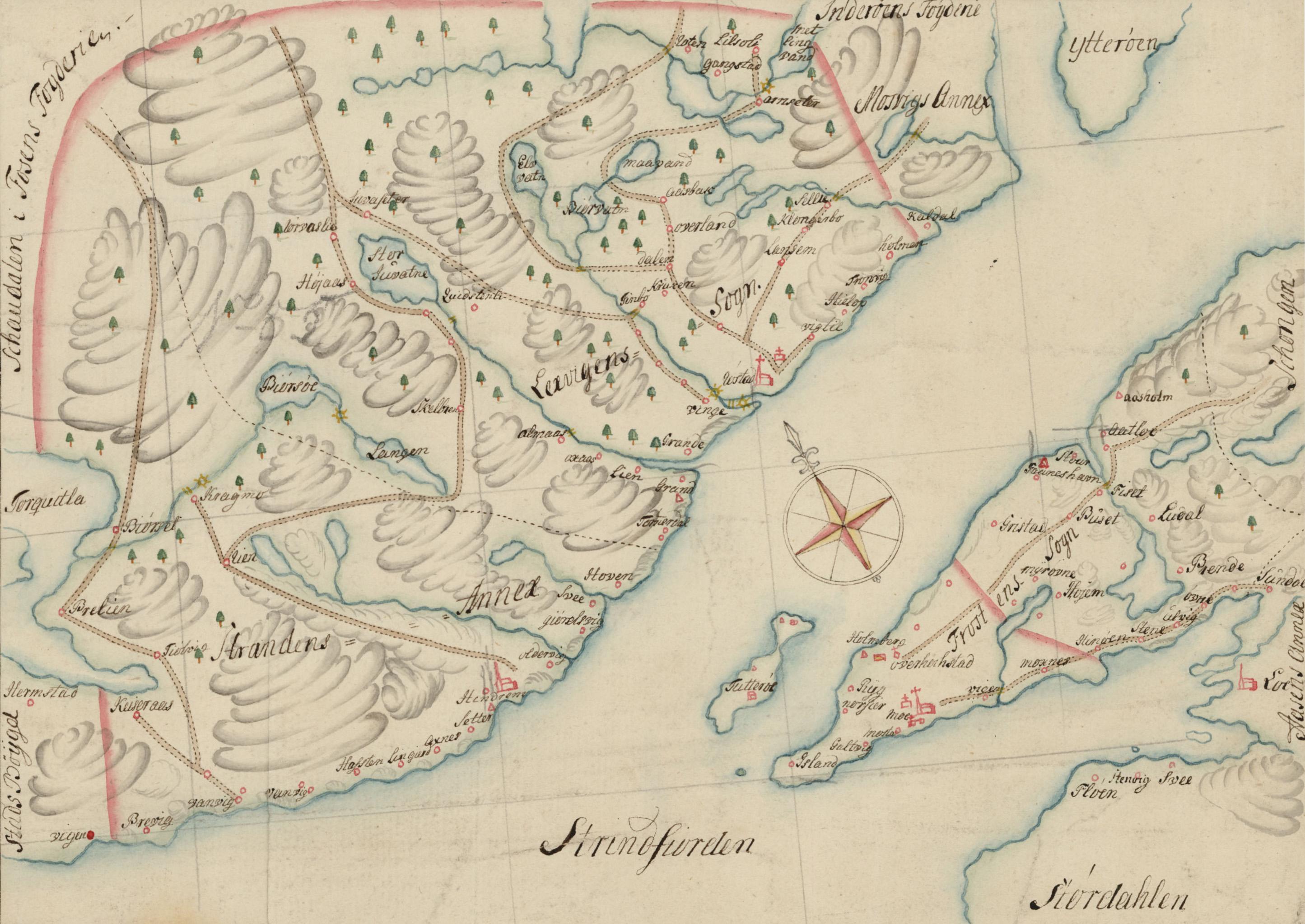 leksvik kart Fil:Leksvik Frosta Kart 1765. – Wikipedia