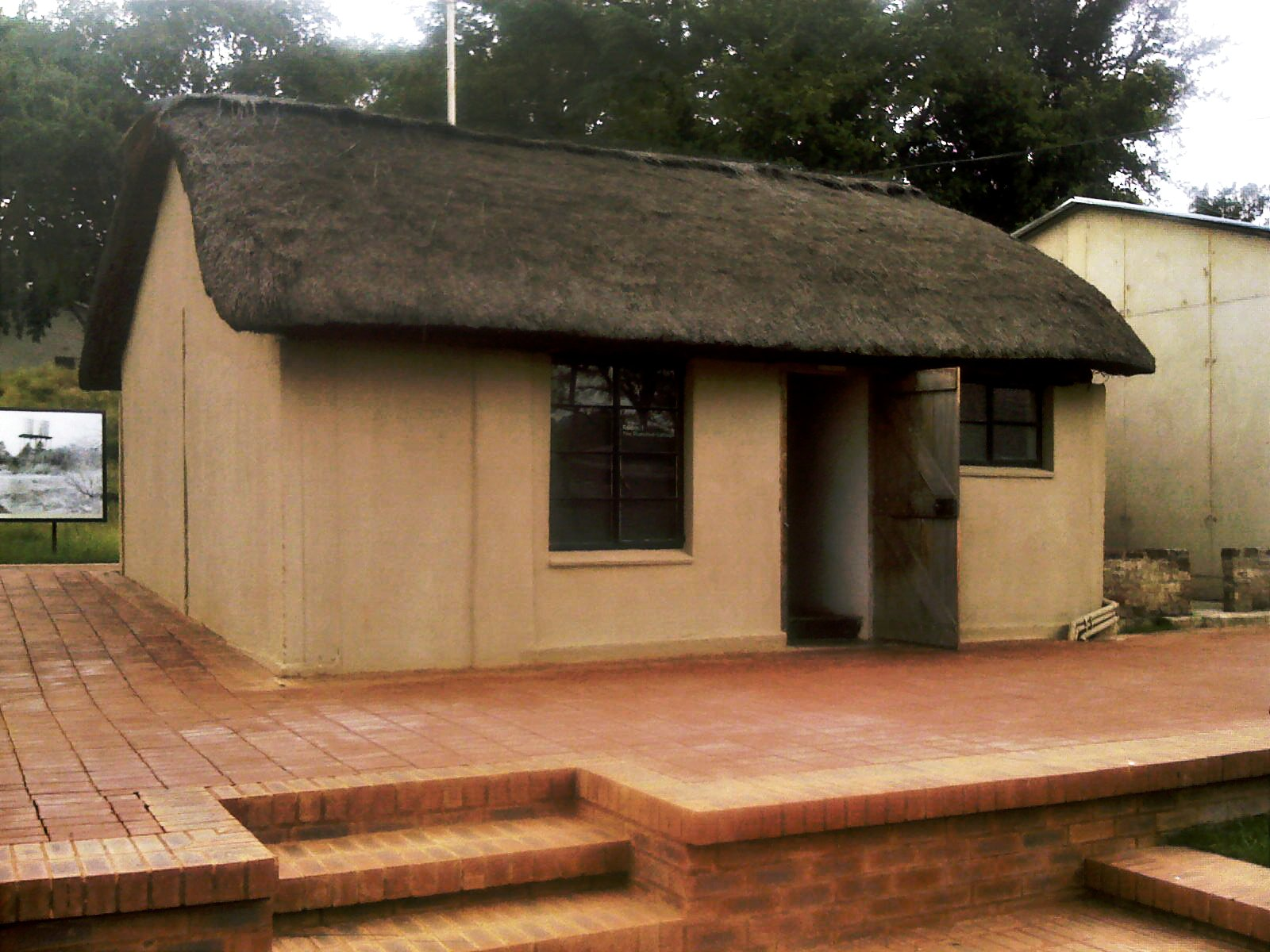 The thatched room at Liliesleaf Farm where Mandela hid