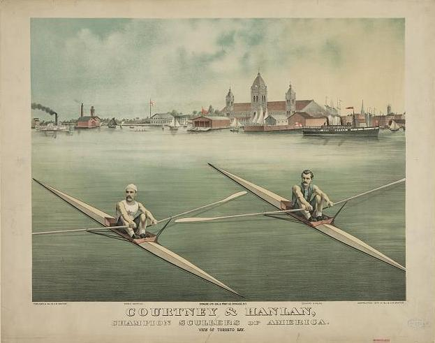 File:Lithograph of C. E. Courtney & Ned Hanlan in Toronto Bay (colour).jpg