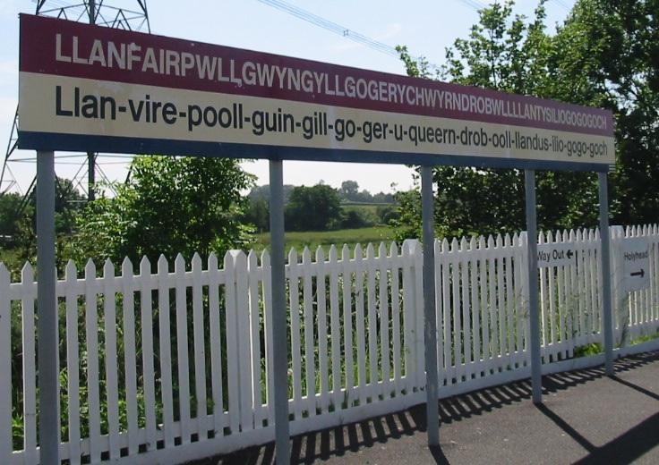Llanfairpwllgwyngyllgogerychwyrndrobwllllantysiliogogogoch station sign 28cropped version 129