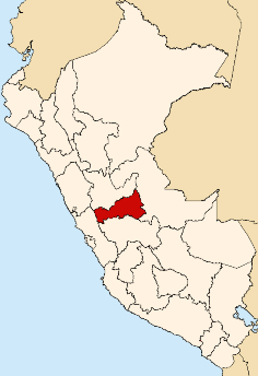 Location of the Pasco Region in Peru