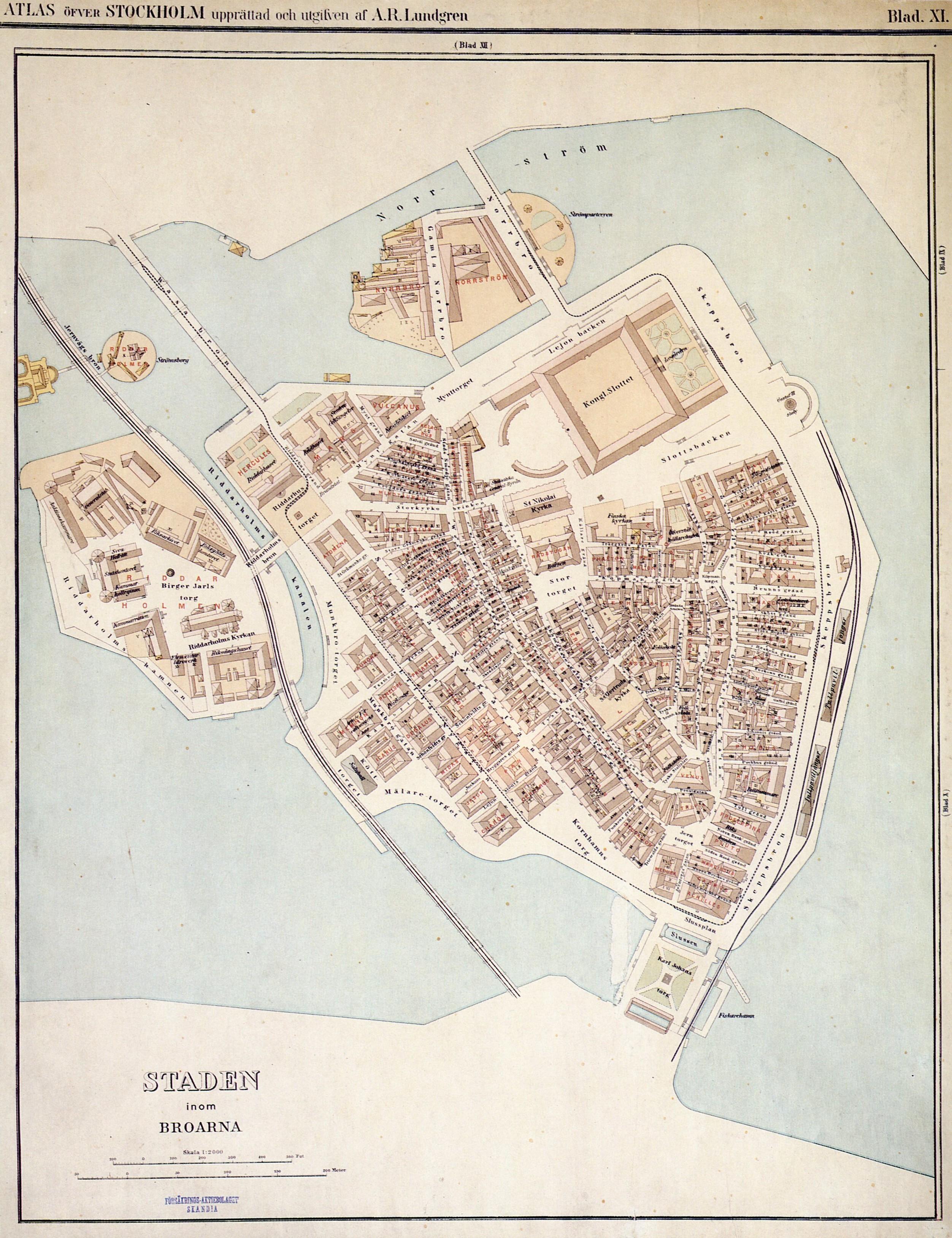 gamla stan karta Fil:Lundgren karta över Gamla stan 1885. – Wikipedia gamla stan karta