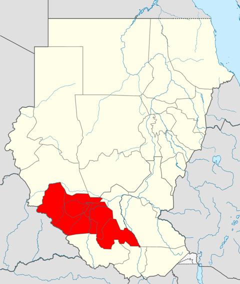 ガザル川地方概略図