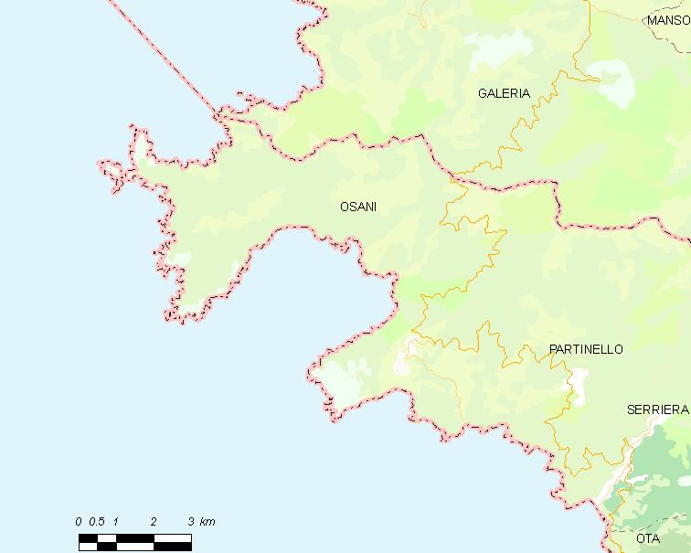 Osani locator map