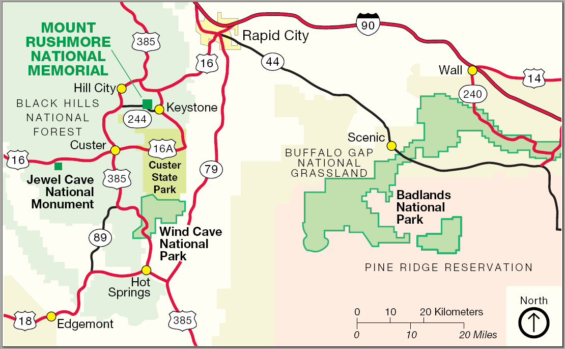 Map of Wind Cave National Park Location