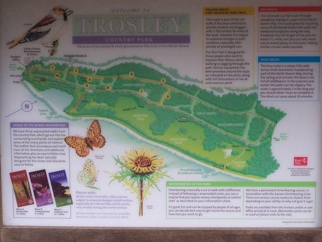 Map of Trosley Country Park - geograph.org.uk - 1177089