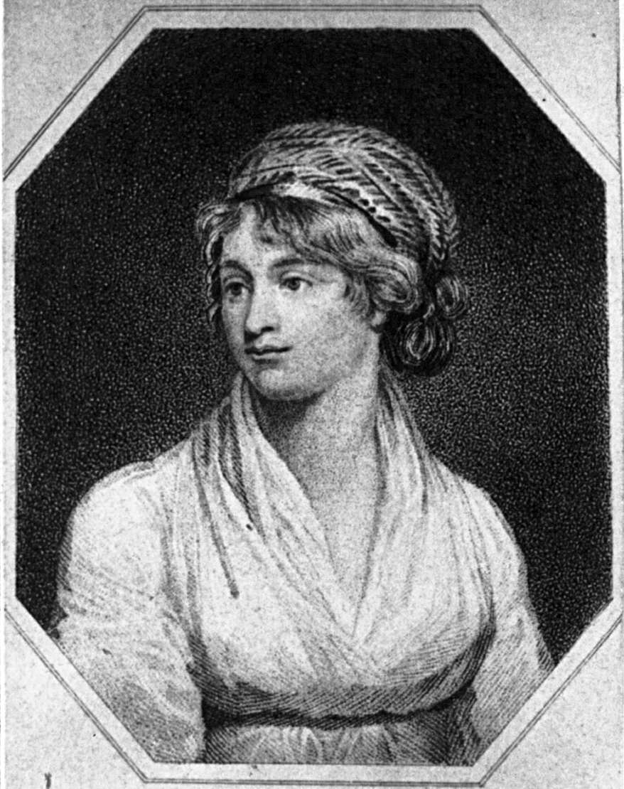 Mary Wollstonecraft.  hotograph from 1850 to 1870.