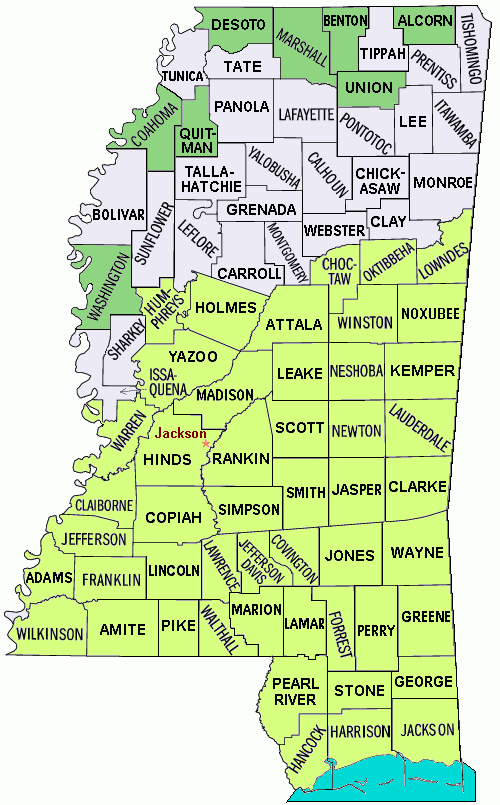FileMississippi Counties Katrina Disaster Areas Mappng - Mississippi map of counties