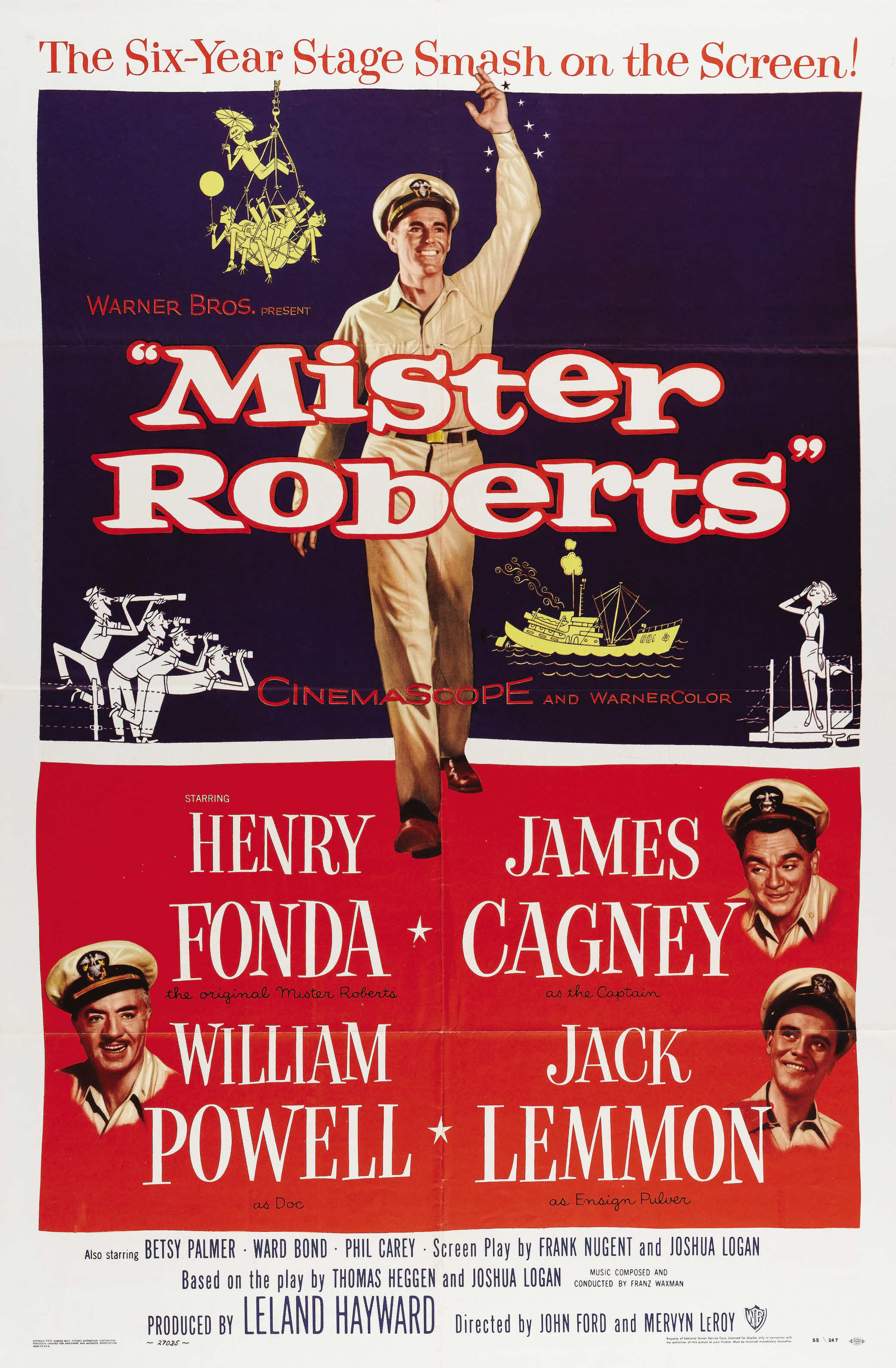 Description de l'image Mister Roberts (1955 movie poster).jpg.