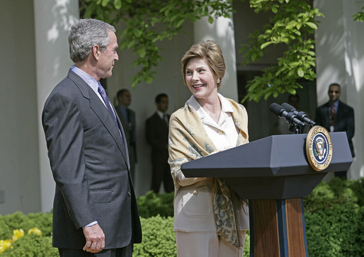 That George w and laura bush possible