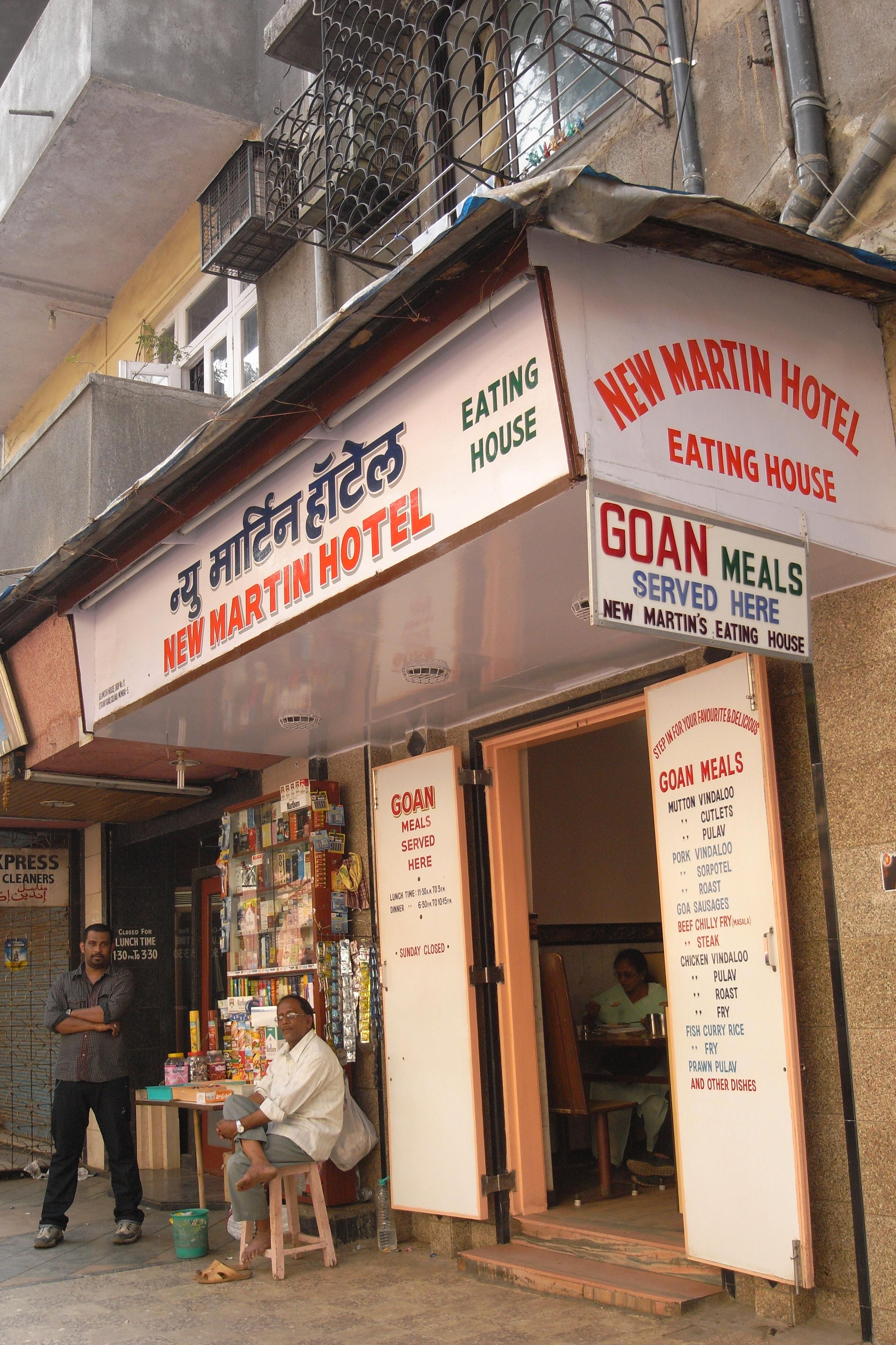 File New Martin Hotel Eating House Colaba Mumbai Jpg