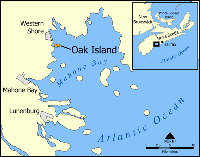 Where Is Oak Island Located On A Map