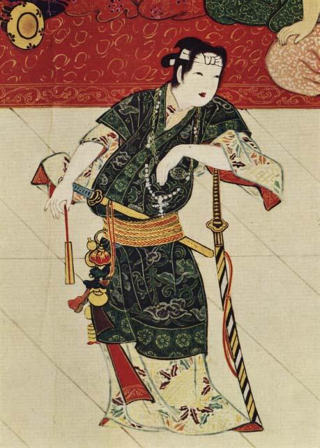 Okuni with cross dressed as a samurai.jpg