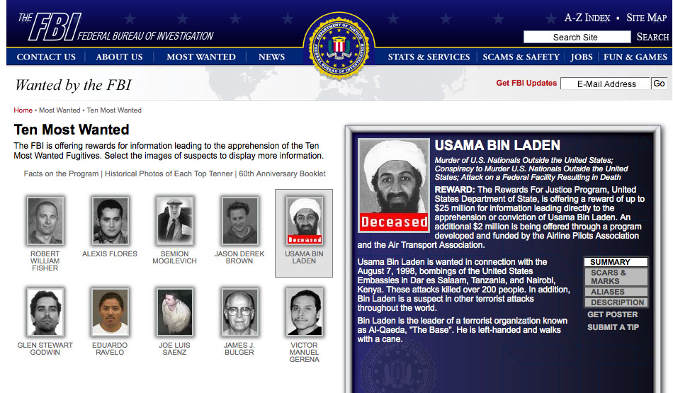 death of Osama Bin Laden - Obit Magazine